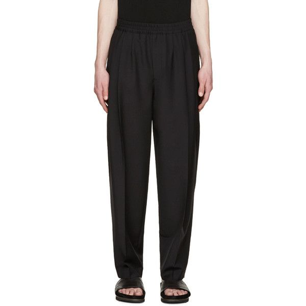 Trousers · McQ Alexander Mcqueen Black Pleated ...