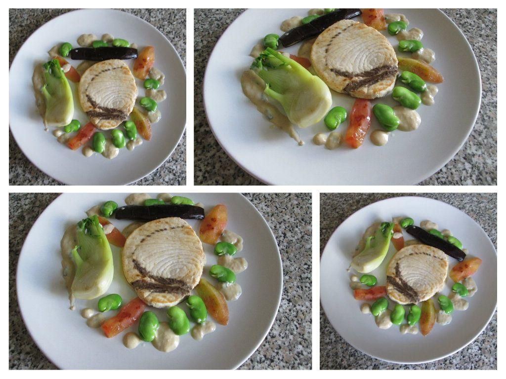 Poisson espadon   grillè   quelque  legumes  grillè et  quelque  autre   bouillon   sauce  berneaise  au  thon   Gino D'Aquino