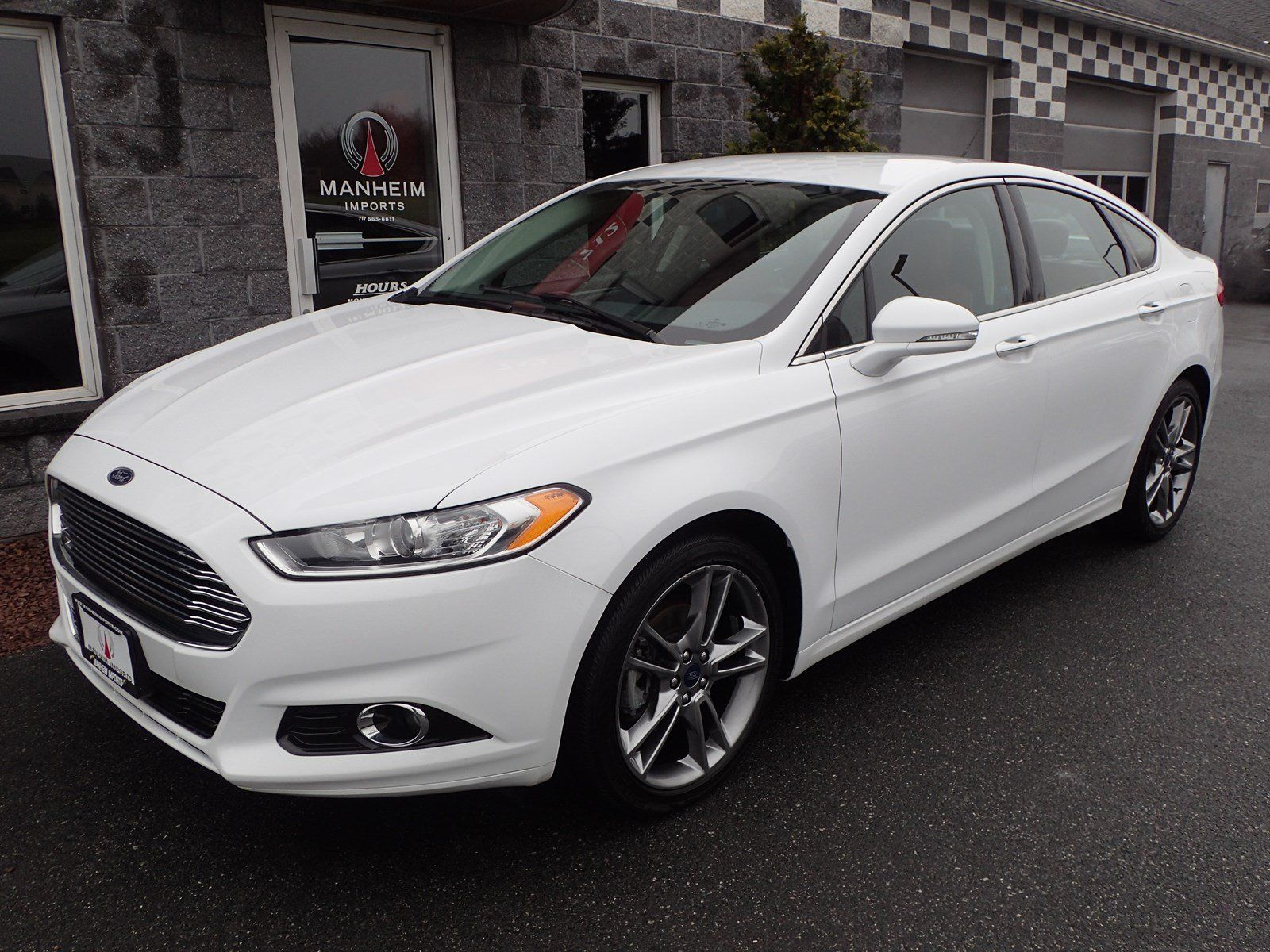 2014 Ford Fusion Titanium Red Leather Interior Turbo Charged