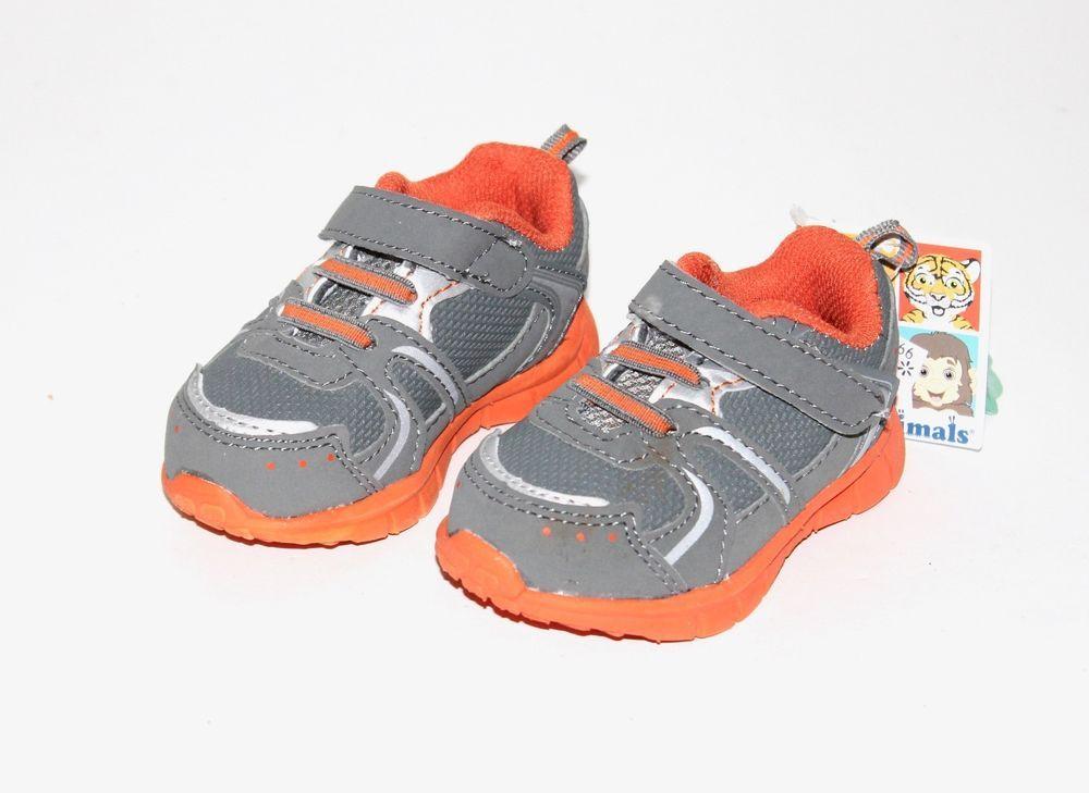 477b0299a6e7 Garanimals Baby Toddler Boys Gray Orange Soft Close Athletic Shoes 3 4   Garanimals  Athletic