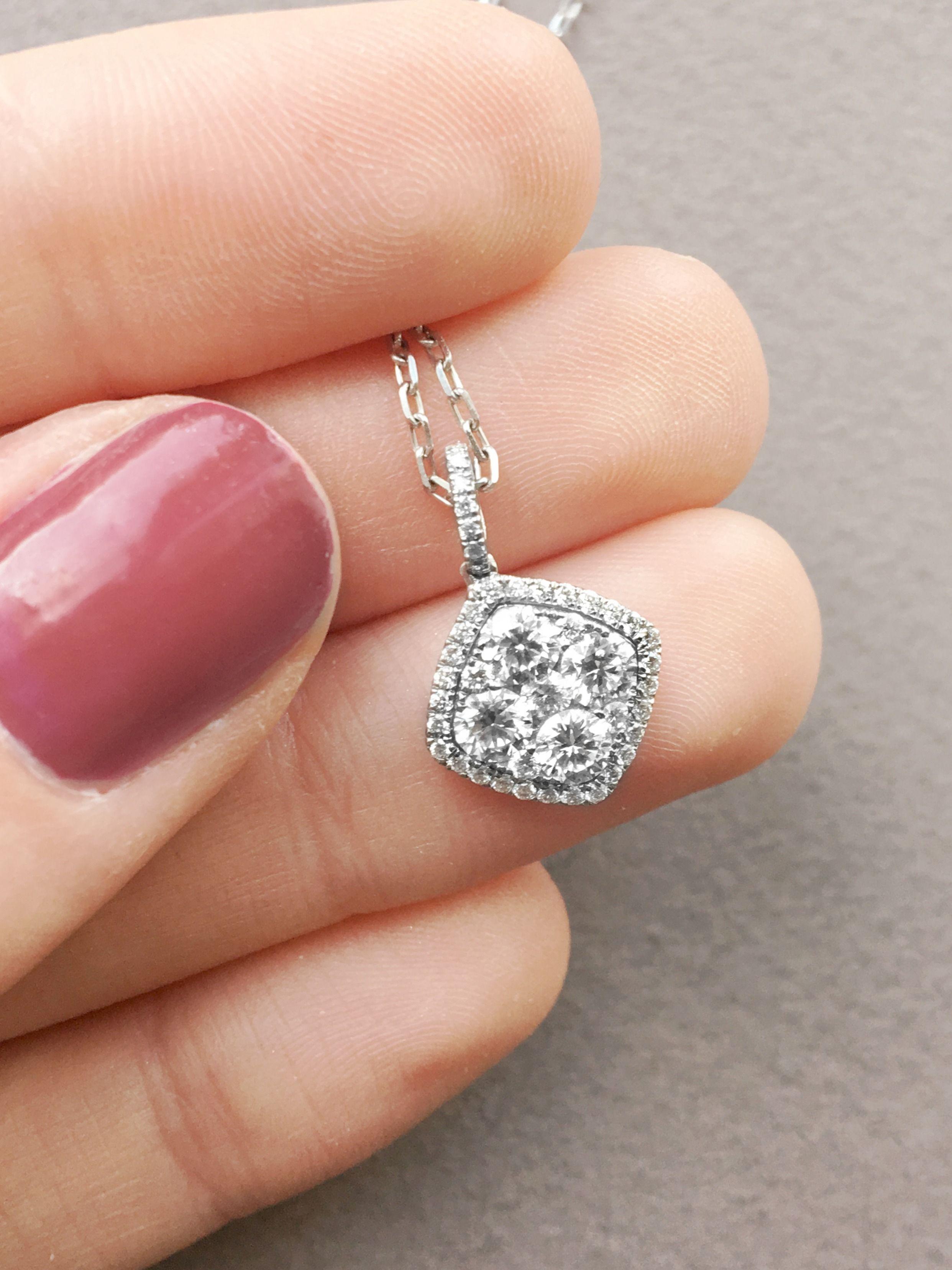 Multistone Diamond Pendant dublin ireland