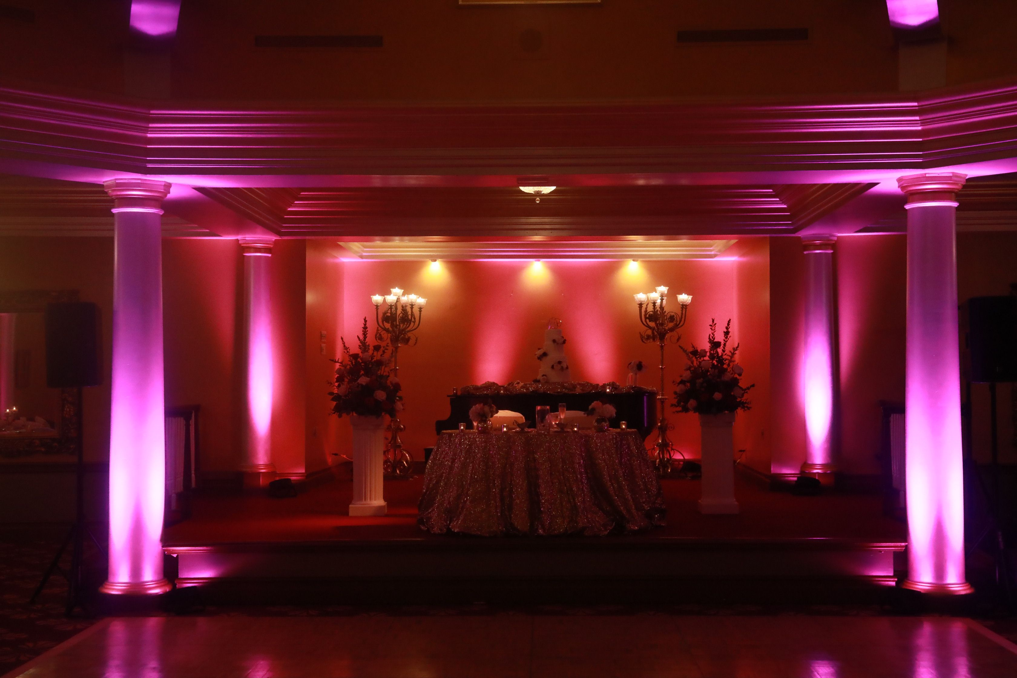 wedding lighting in tampa uplighting and projection monogram