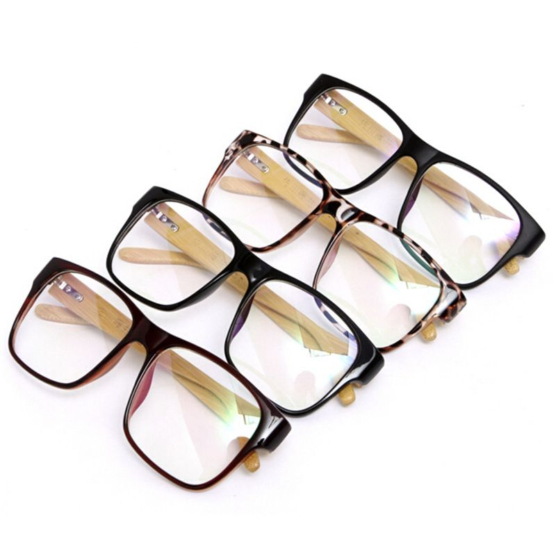 Students Natural Wooden Glasses Frame Eyewear Frames Bamboo Frame ...