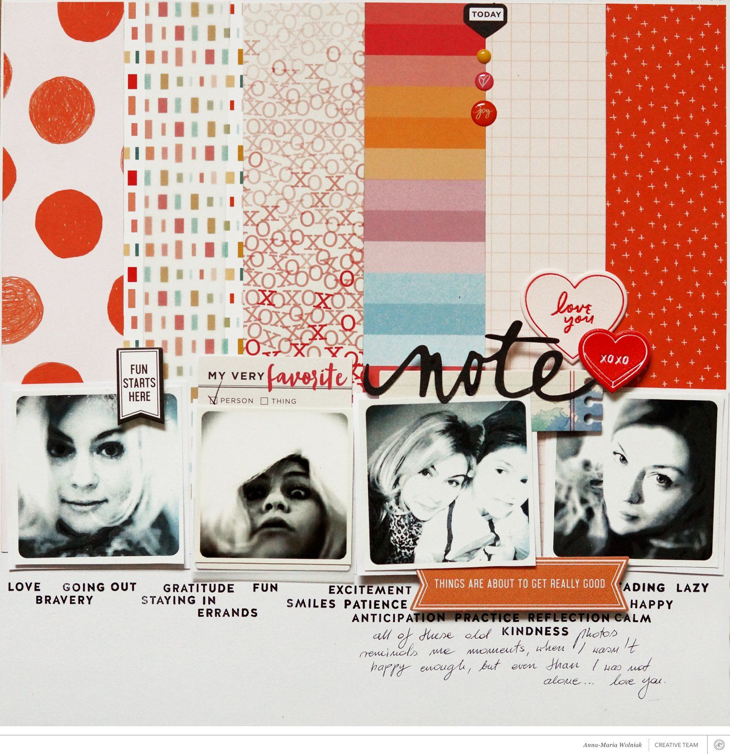 See What Anna Maria Did With This Week S Sunday Sketch Love Scrapbook Scrapbook Inspiration Bridal Shower Scrapbook