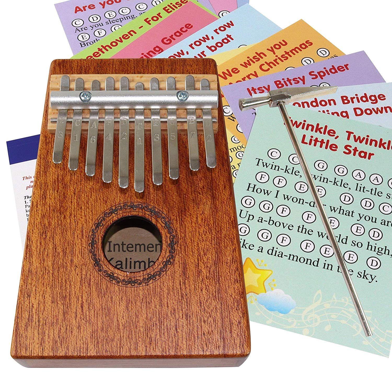 10note thumb piano wooden kalimba storage sack note