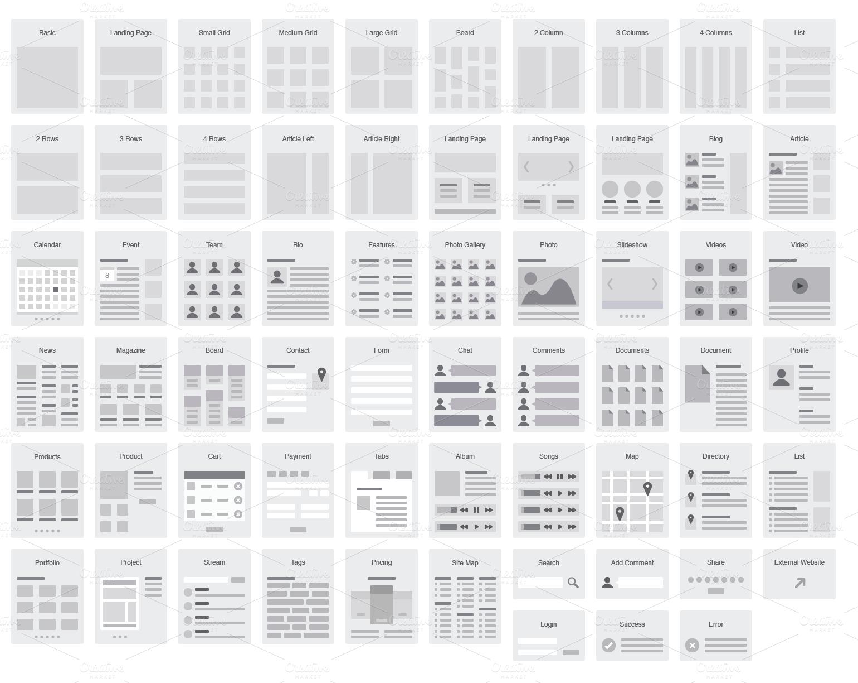 wireframe template for illustrator documentations pinterest