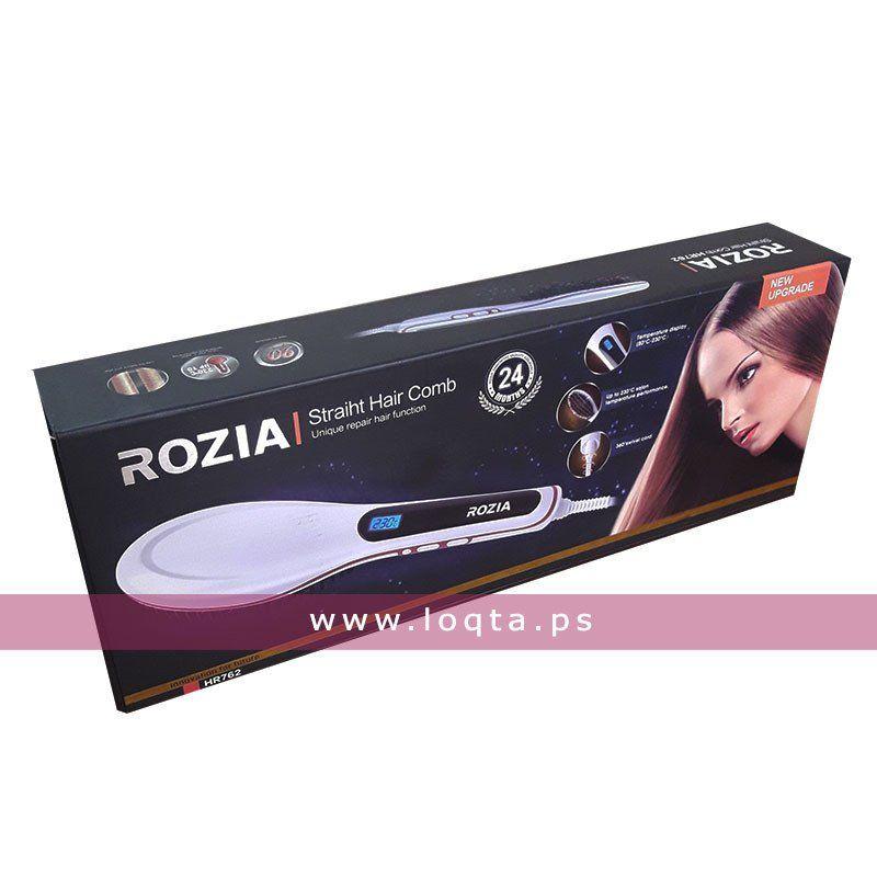 فرشاة فرد الشعر الحرارية من Rozia 230 درجة مئوية Loqta Ps Straightening Brush Hair Brush Straightener Hair Comb