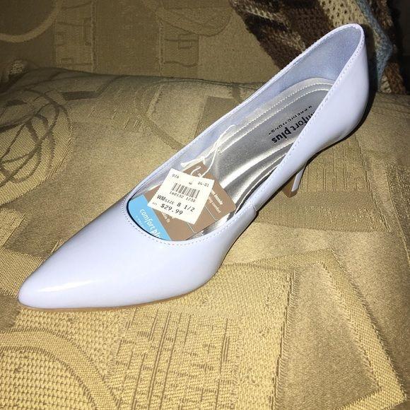 Light blue shoes 3 inch heel brand new