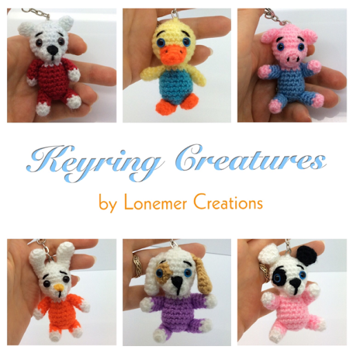 Lonemer Creations Keyring Creatures Crochet Free Pattern