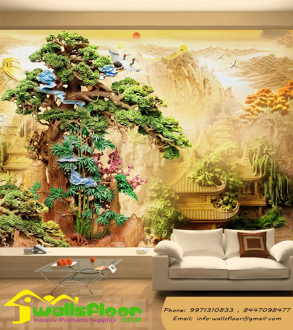 Walls Floor Is Best Home Interior Designers Decorators In Ghaziabad Greater Noida We Provides Wall Painting Living Room 3d Wallpaper Mural Mural Wallpaper