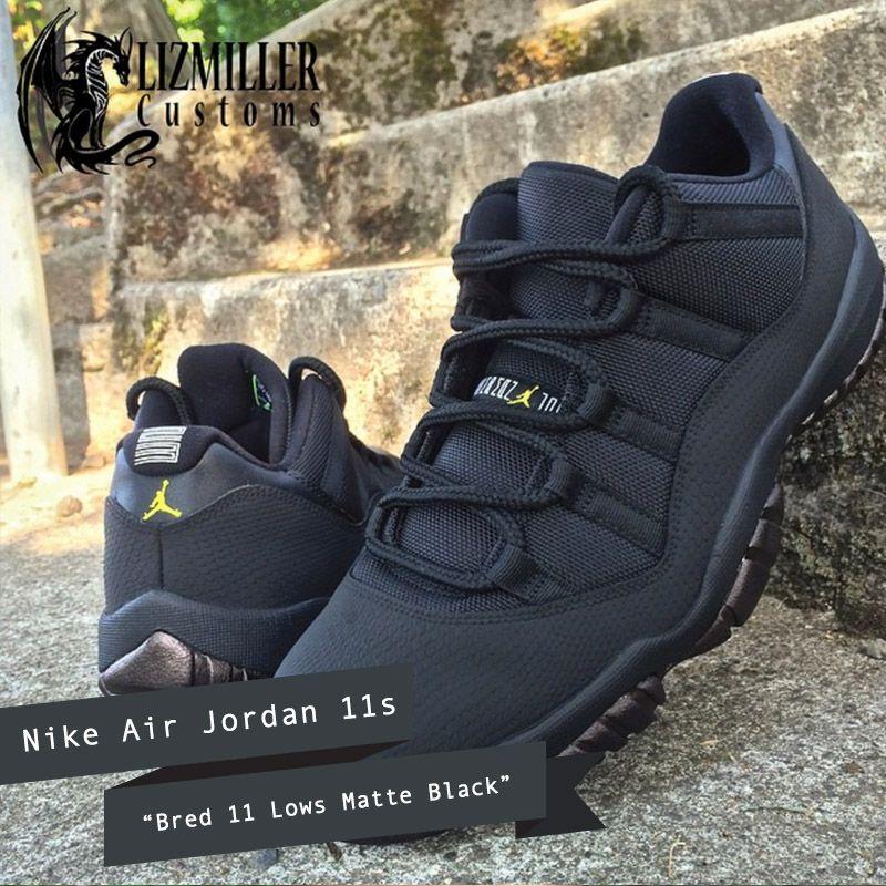 all black low top jordans