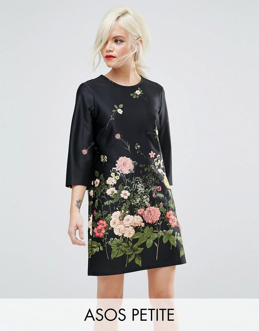 ASOS Botanical Floral Shift Dress Clearance With Mastercard Sale Low Shipping Fee Fashion Style Sale Online Discount Original tyf7g