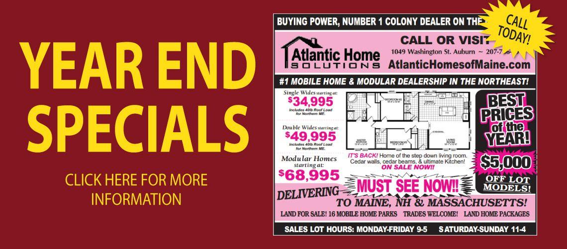 Atlantic Home Solutions | Auburn & Lewiston Maine | Mobile Homes