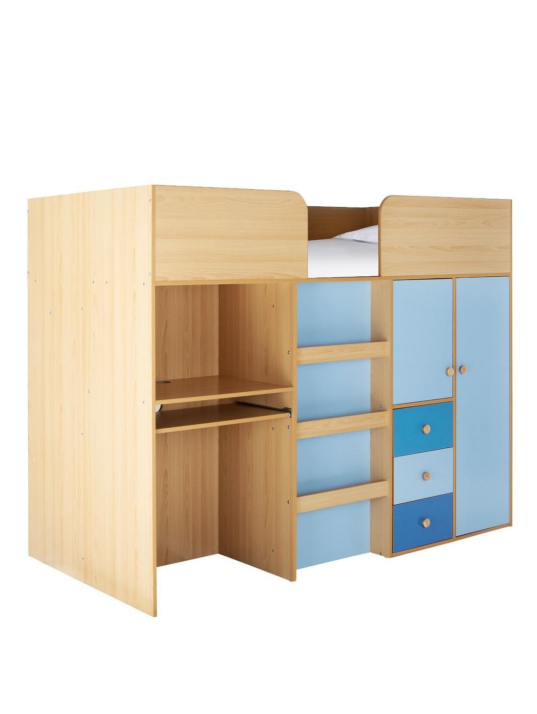 Metro Bedroom Furniture Metro Kids Mid Sleeper Bed Desk And Storage Kid Desks And Beds