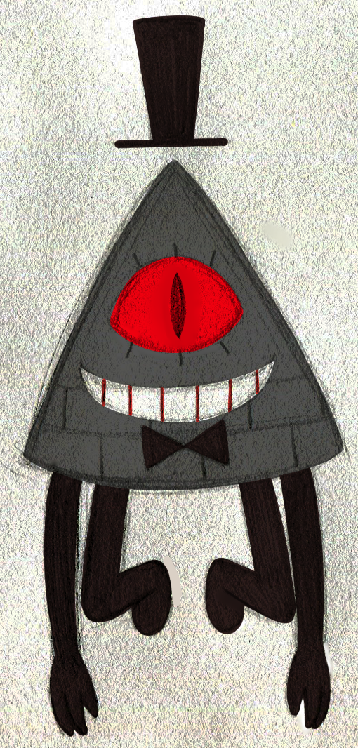 Apocalyptic!Bill by PuccaFanGirl.deviantart.com on @DeviantArt... Im so glad he doesn't actually have a mouth. DONT LET ALEX SEE THIS. HES ALREADY PUT CREEPY CRAP INTO THE SHOW