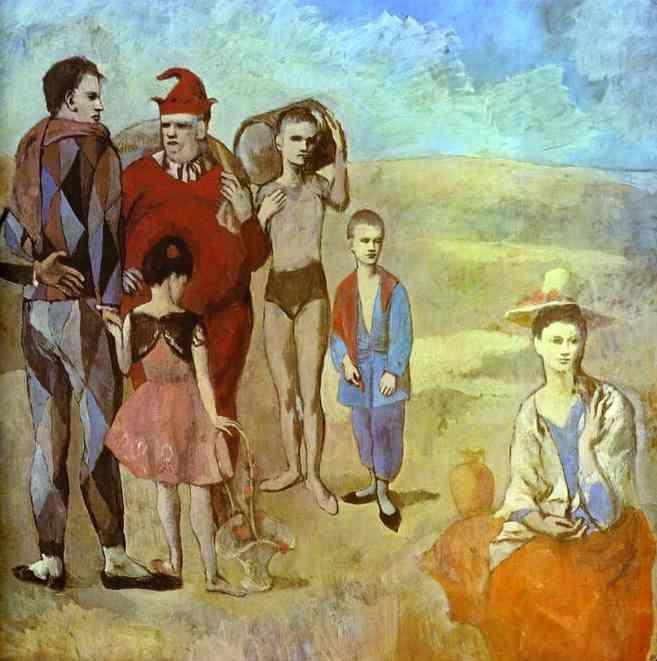 'Die Die Gaukler', öl von Pablo Picasso (1881-1973, Spain)