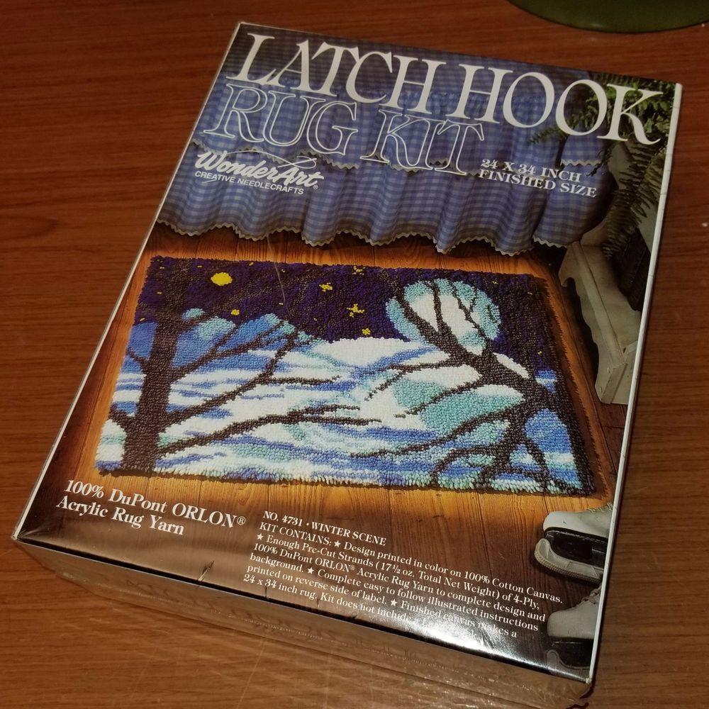 WonderArt 4731 Winter Scene Latch Hook Kit 24