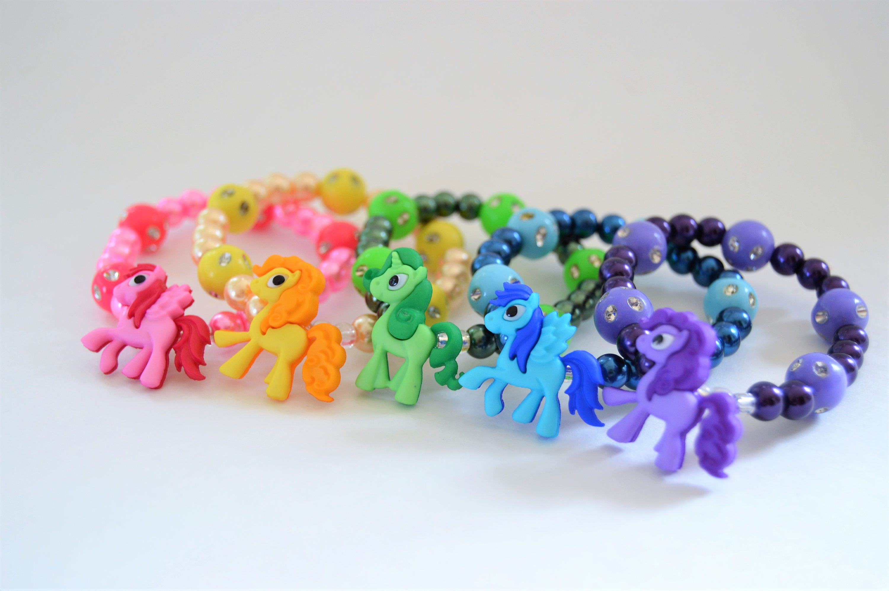 Little pony bracelet for girls pearl bracelets pony party bracelet