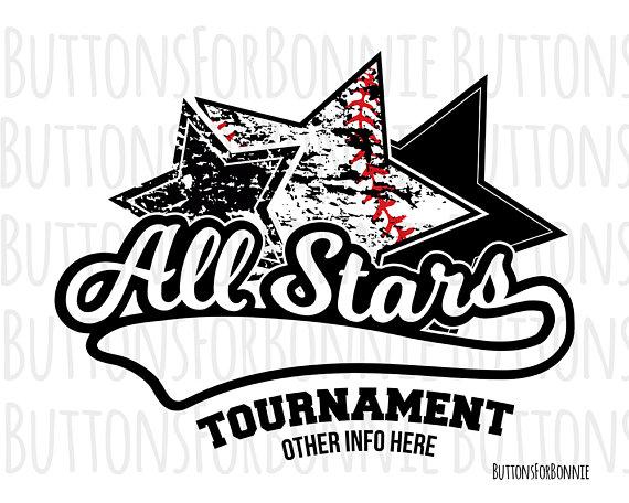 All Stars Svg All Stars Tournament Tournament Svg Baseball Etsy All Star Baseball Shirt Designs Star Svg