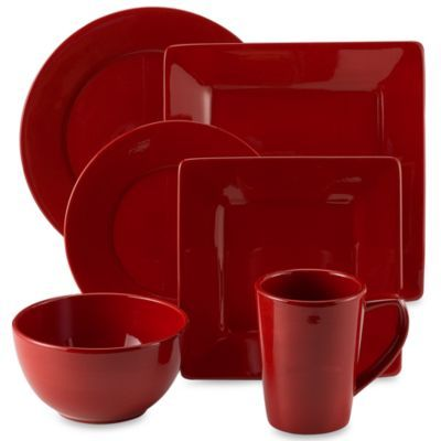 Misto Red Dinnerware - BedBathandBeyond.com Preferably the square ones.  sc 1 st  Pinterest & Misto Red Dinnerware - BedBathandBeyond.com Preferably the square ...