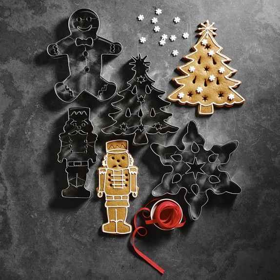 Swift 4 Noël Cookie Cutters snowman Holly Star Bell Biscuit Pâtisserie De Noël