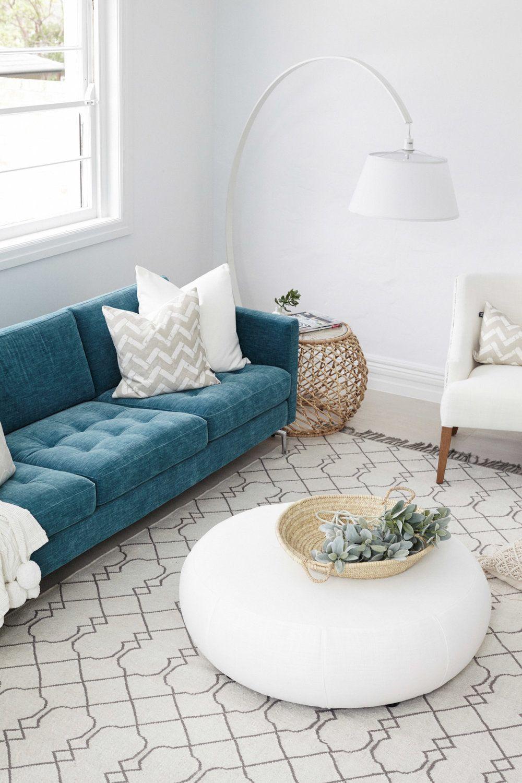 Designers Three Birds Renovations Australia Teal Couch Li