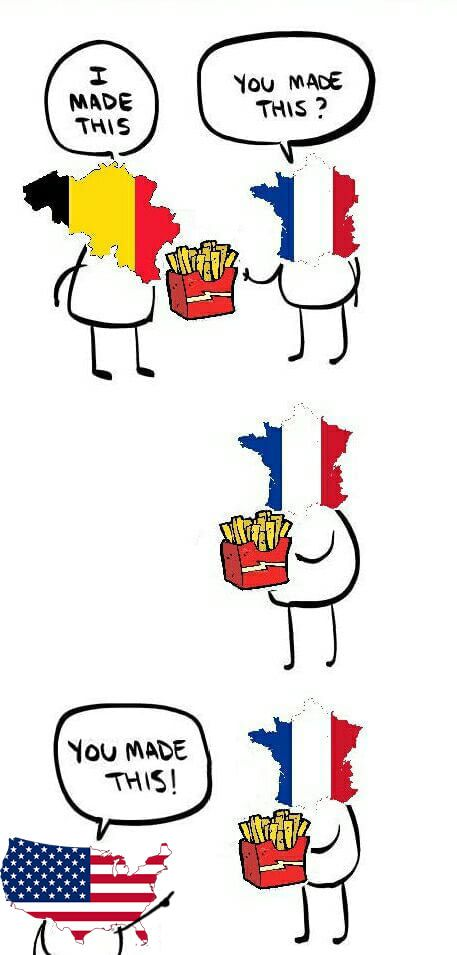 French Fries With Images French Puns French Meme Learn French