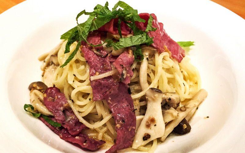 Pasta Italia Spaghetti Al Dente Aglio Olio Smoked Beef Spageti Resep Masakan Resep Pasta