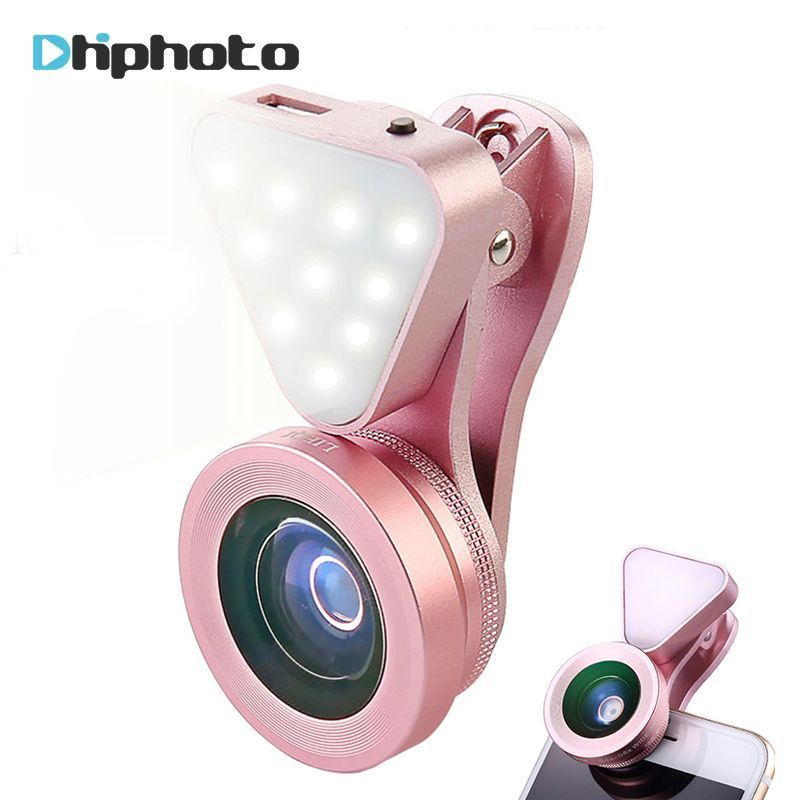 Universal 3 in 1 Phone Camera Lens with Led Flash Light
