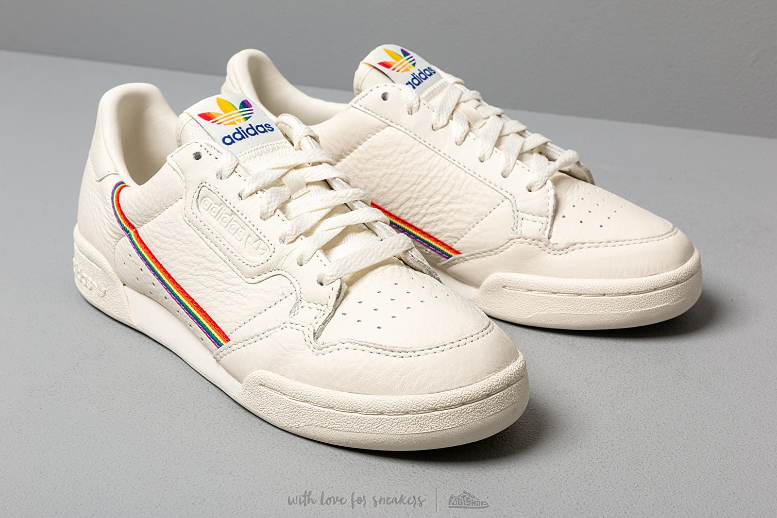 adidas Continental 80 Pride Off White/ Off White/ Off White ...