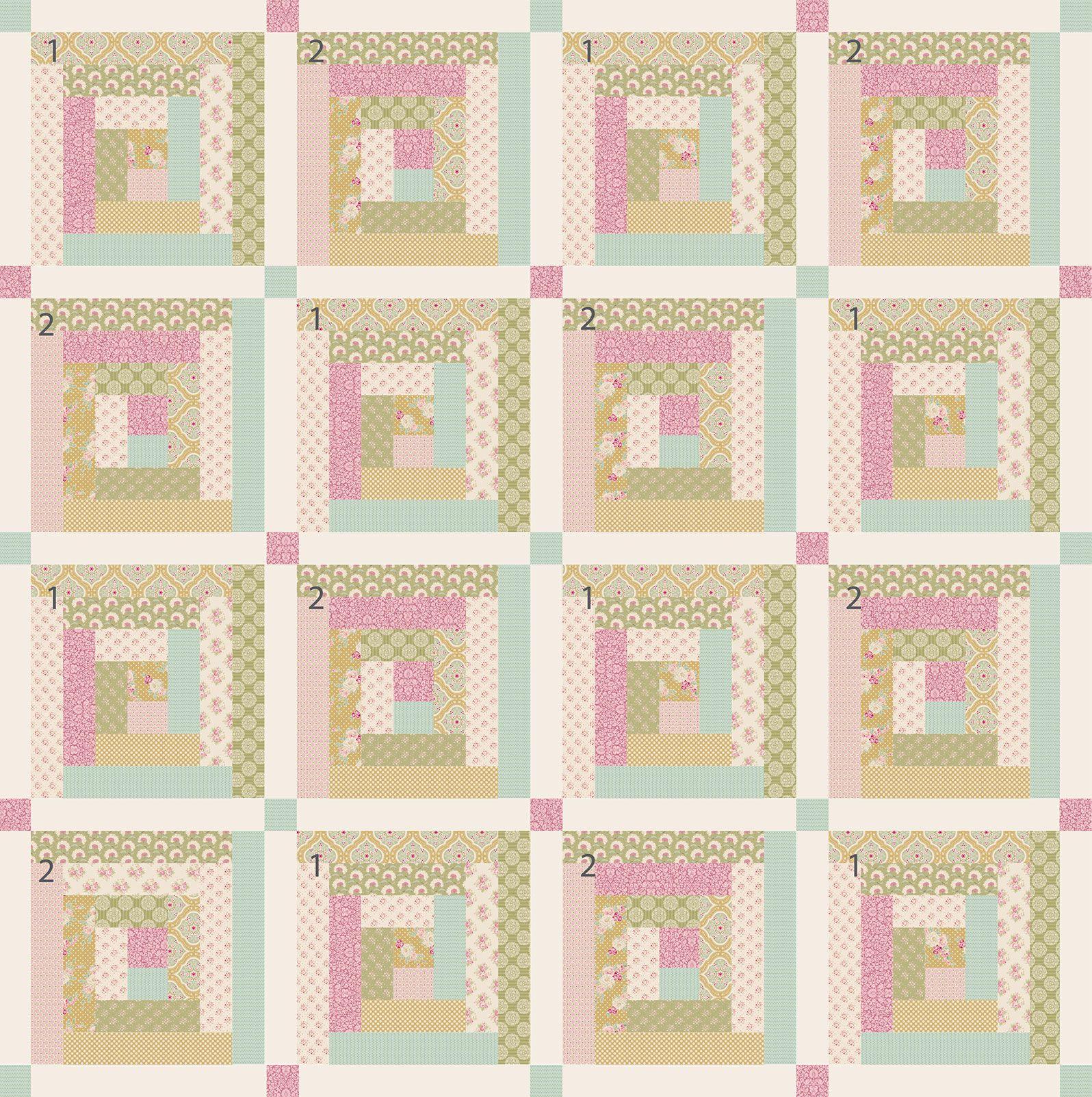 plaid tilda vert du printemps quilt en tissu fa on patchwork tissu couture quilt. Black Bedroom Furniture Sets. Home Design Ideas