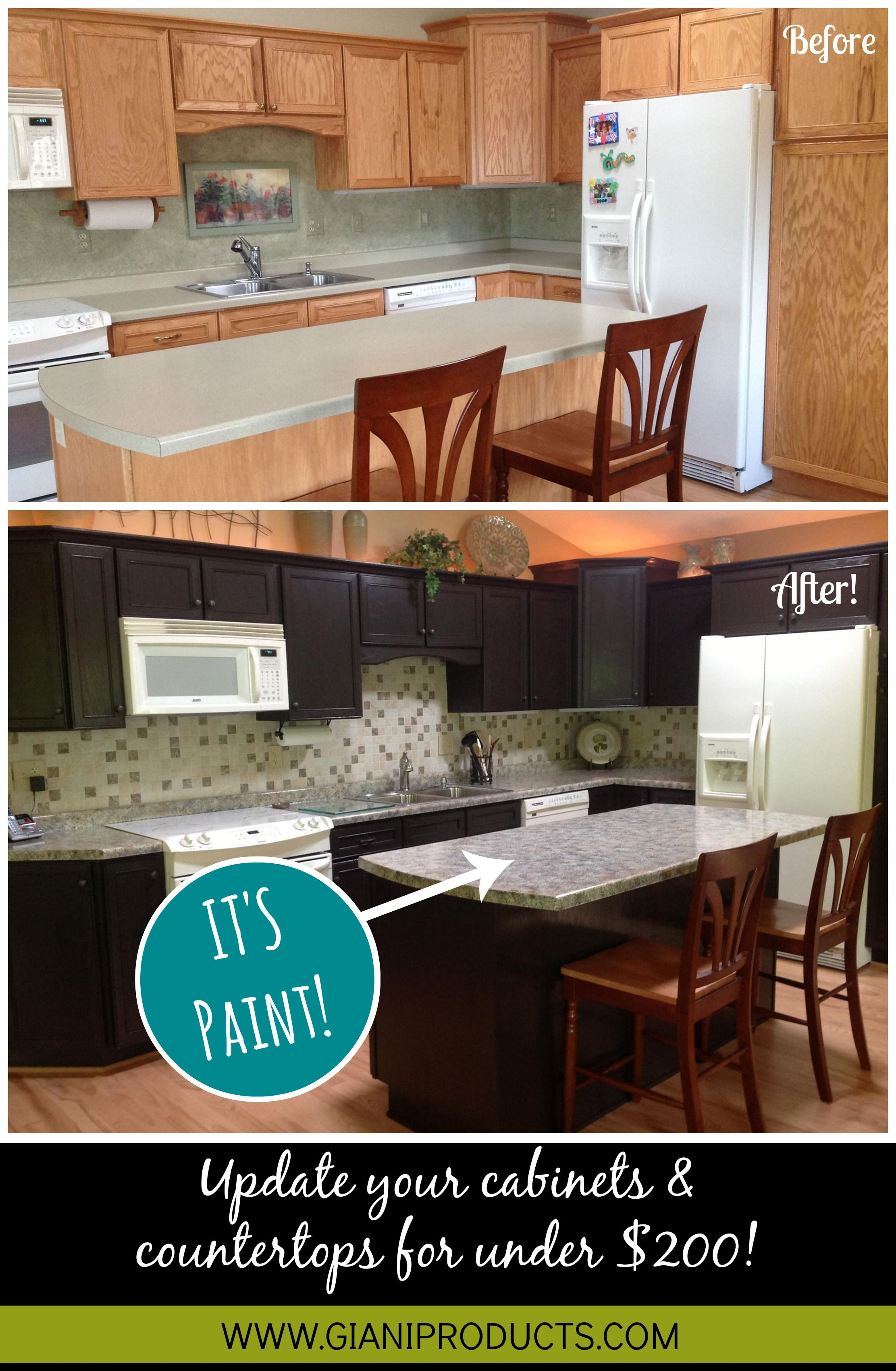 Granite Kitchen Makeovers Kitchen Update On A Budget Paint That Looks Like Granite And One