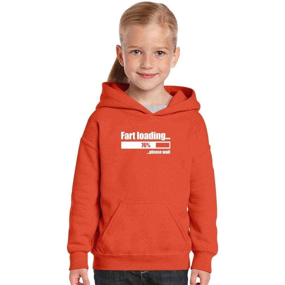Loading Fart Please Wait | Humor Funny Kids Hoodie