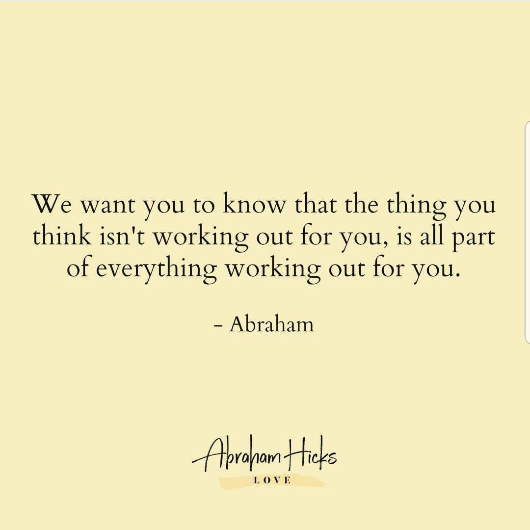 We Want You To Know That The Thing You Think Isn T Working Out For