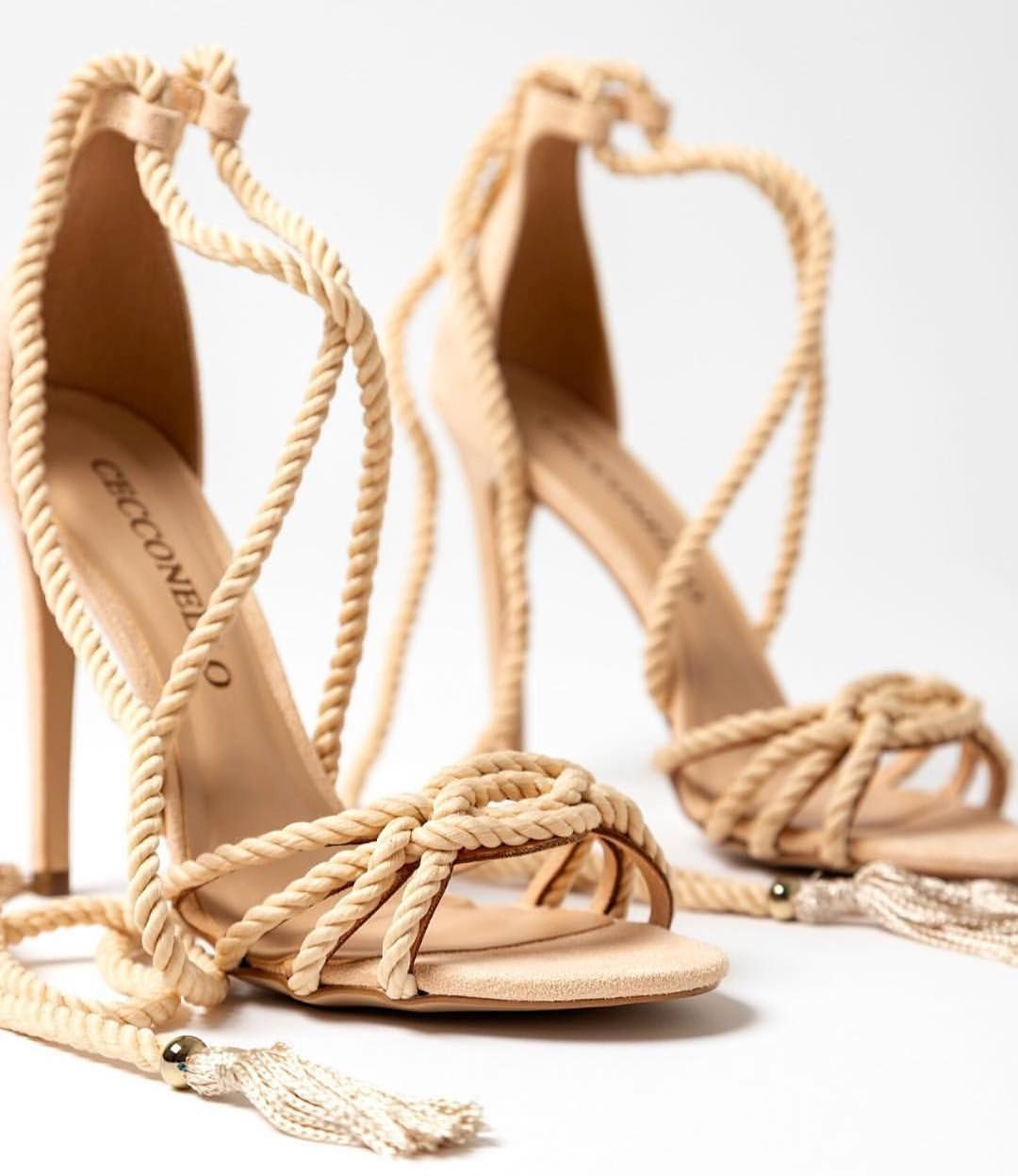 a2eaacf8b9c0d6 CECCONELLO Arabian Chic nude rope sandals