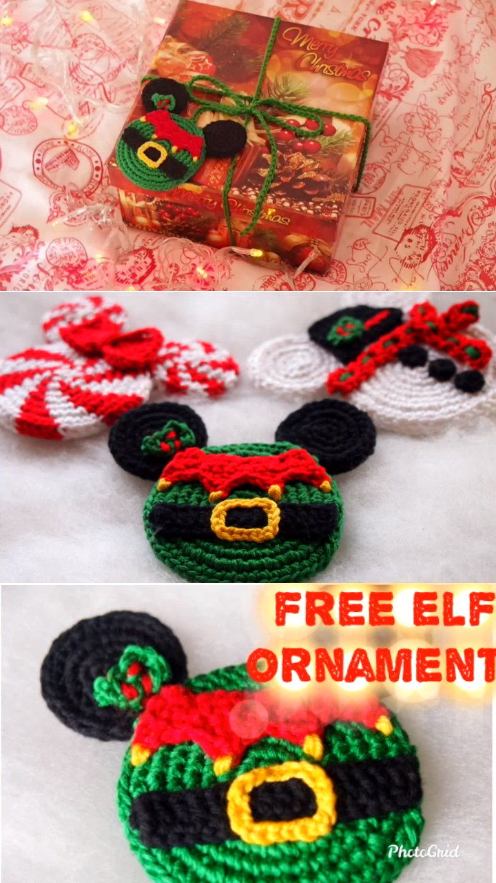 Christmas Elf Free Crochet Pattern #crochetapplicates