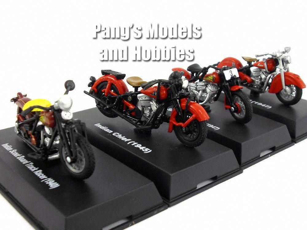2018 NewRay Toys 1:32 Scale 3 Inch Indian 1945 Chief Motorcycle Vehicle /& Custom Display Base