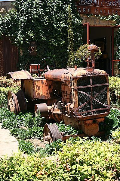 Old Tractor Used For Garden Scaping | Antique tractors ...