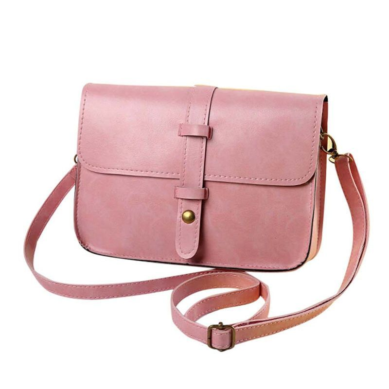 2016 New Fashion PU Leather Handbags Vintage Purse Leather Cross Body Shoulder Messenger Bag Luxury Handbags Women Bags Designer