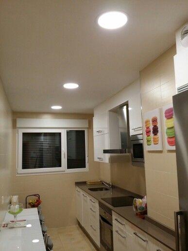 Downlight led 20w instalados en techo de bovedilla por - Iluminacion led cocina downlight ...