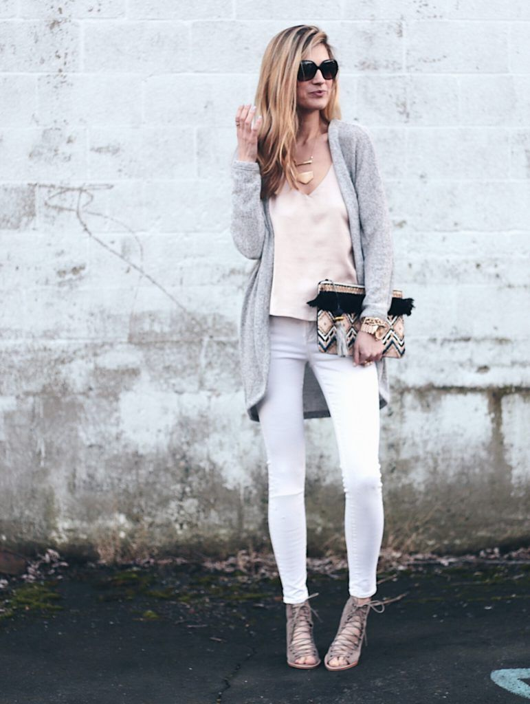 The Best Neutral Peep Toe Booties for Spring | White skinny jeans ...