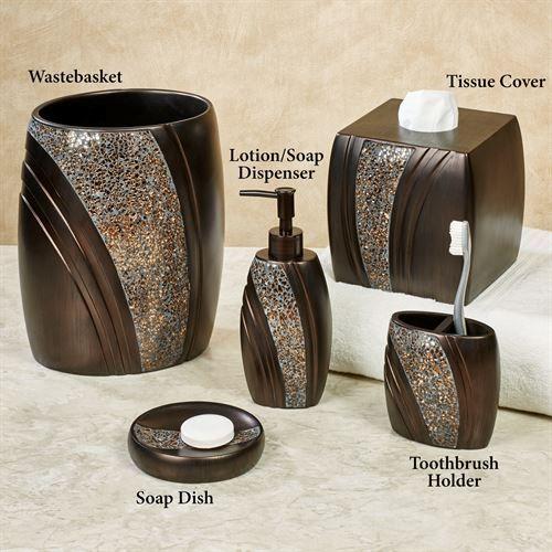 Grandeur Mosaic Bronze Bath Accessories Bathroom Accessories Sets Crystal Bathroom Accessories Mosaic Bathroom Accessories
