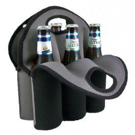 Neoprene 3-Pack Beer Bottle Carrier Bag Tote Baby Bottles Beverage Water Can