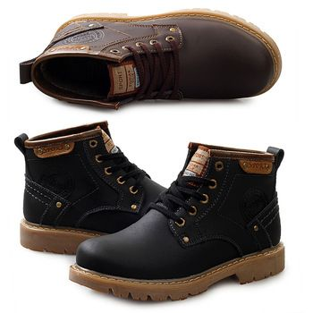 Free shipping New2014 Winter autumn Men shoes leather ankle boots New with box Douglas WORK BOOTS Flat heels