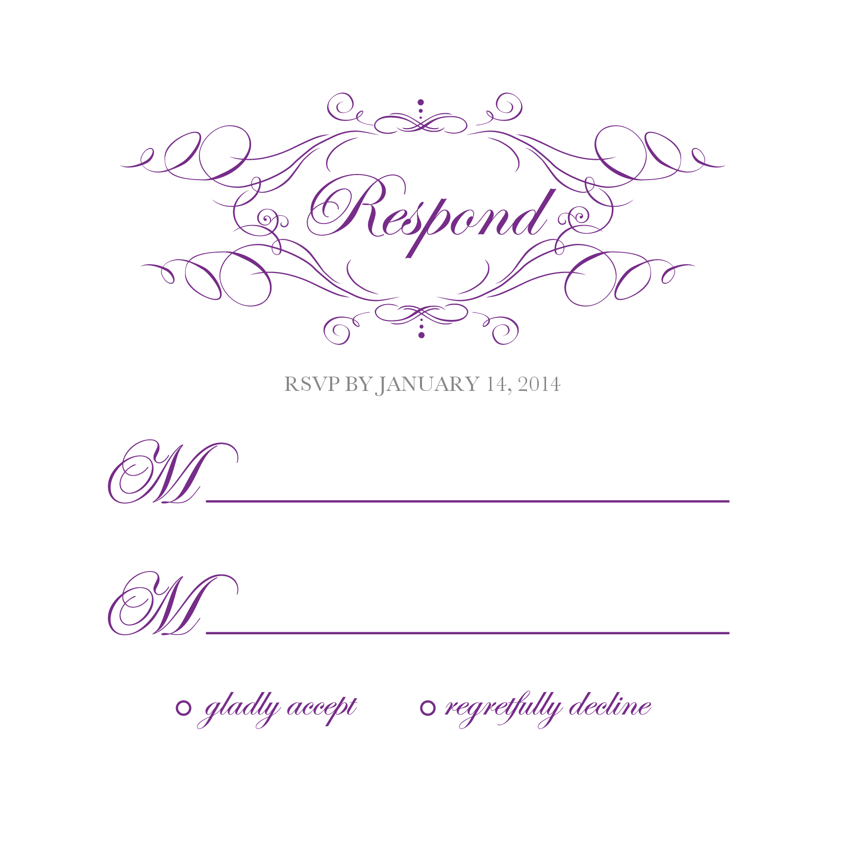 Elegant Monogram Free Printable Wedding Invitations | Freebies ...