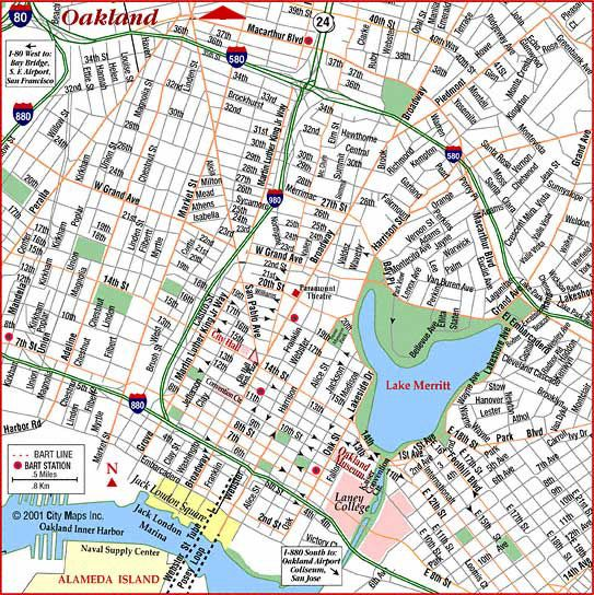 Map Of Oakland Ca Maps of Oakland CA | Permalink: Road Map of Oakland (Oakland