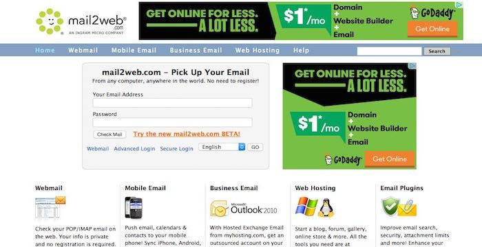 Mail2web Com Email Business Emails Email Web Online Email