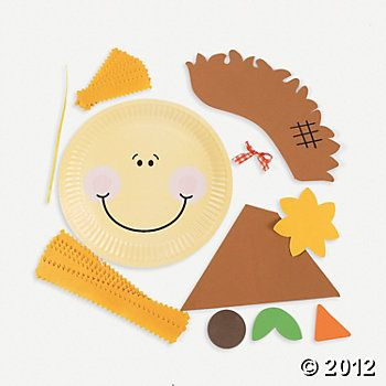 Paper Plate Scarecrow Craft Kit  sc 1 st  Pinterest & Paper Plate Scarecrow Craft Kit | Scarecrow crafts Craft kits and ...