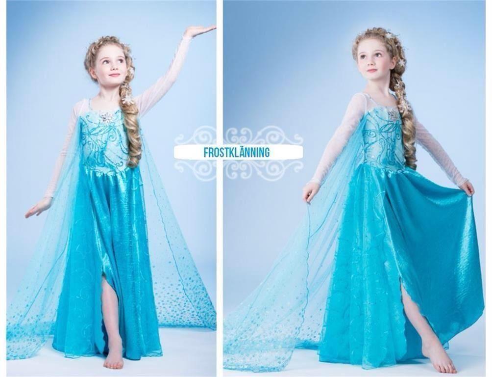 NY Frost   Frozen Elsa klänning - Storlek 122 128  4f37899be9045