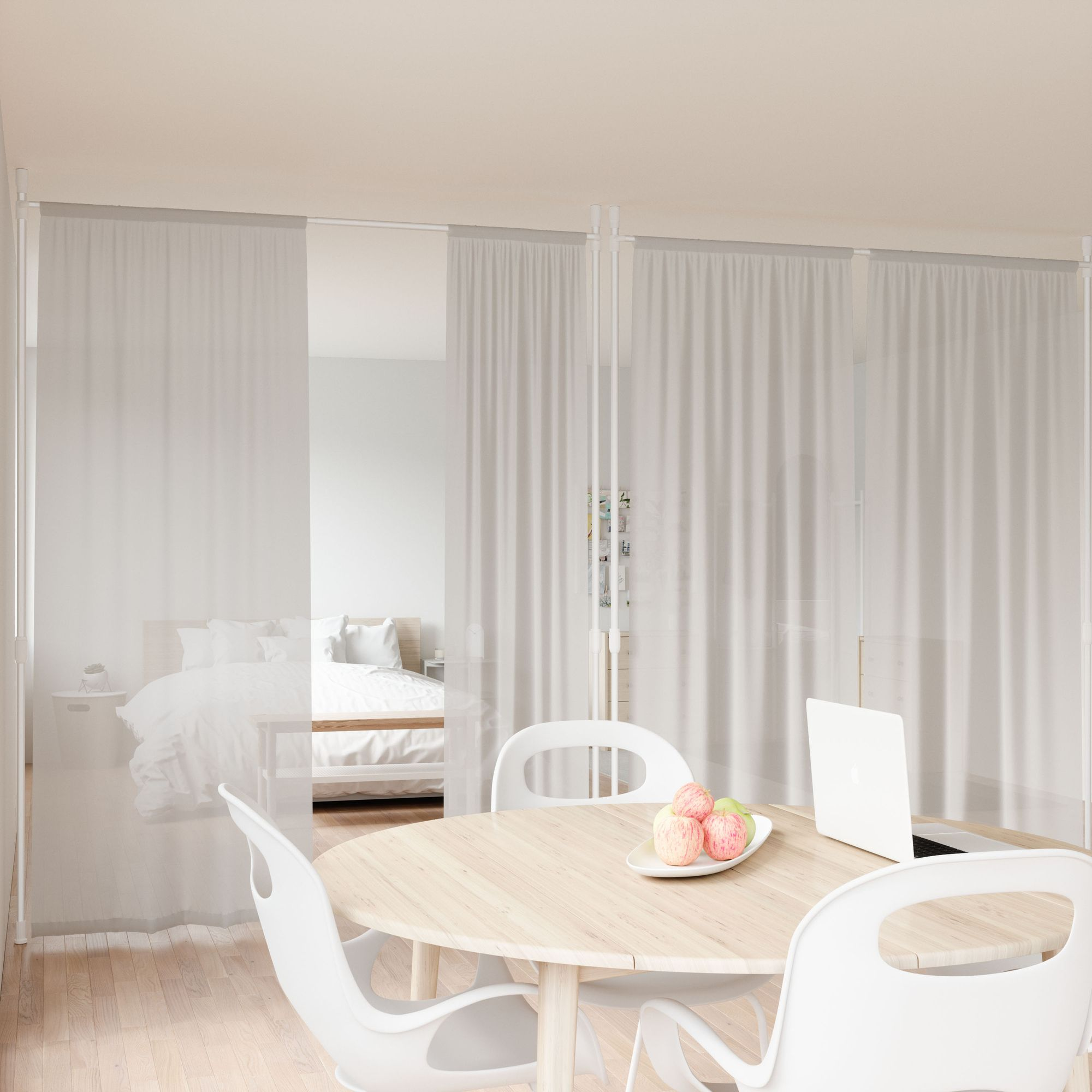 Anywhere Curtain Rod And Room Divider in 2020 Living